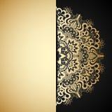 Διανυσματική χρυσή διακόσμηση. Στοκ Φωτογραφίες
