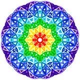 Διανυσματικός δονούμενος κύκλος καλειδοσκόπιων ουράνιων τόξων Στοκ εικόνα με δικαίωμα ελεύθερης χρήσης