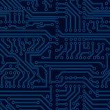 Διανυσματικό άνευ ραφής σχέδιο πινάκων κυκλωμάτων Στοκ Εικόνα