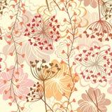 Διανυσματικό άνευ ραφής floral αναδρομικό υπόβαθρο Στοκ φωτογραφία με δικαίωμα ελεύθερης χρήσης