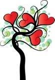 Διανυσματικό δέντρο μορφής καρδιών Στοκ Εικόνα