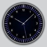 Διανυσματικό αφηρημένο απλό στρογγυλό ρολόι Στοκ εικόνες με δικαίωμα ελεύθερης χρήσης