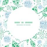 Διανυσματικό αφηρημένο μπλε και πράσινο πλαίσιο κύκλων φύλλων Στοκ Φωτογραφία