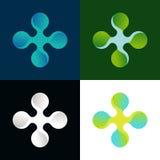 Διανυσματικό αφηρημένο λογότυπο στα διαφορετικά χρώματα Στοκ εικόνα με δικαίωμα ελεύθερης χρήσης