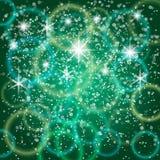 Διανυσματικό αφηρημένο πράσινο υπόβαθρο με το bokeh και Στοκ εικόνα με δικαίωμα ελεύθερης χρήσης