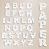 Διανυσματικό αλφάβητο περικοπών εγγράφου Στοκ Εικόνες