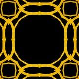 Διανυσματικό γεωμετρικό πλαίσιο deco τέχνης με τις χρυσές μορφές Στοκ Φωτογραφίες