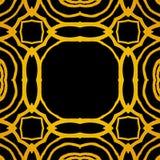 Διανυσματικό γεωμετρικό πλαίσιο deco τέχνης με τις χρυσές μορφές Στοκ Εικόνες