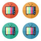 Διανυσματικό εικονίδιο TV Στοκ Εικόνες