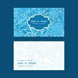 Διανυσματικό μπλε οριζόντιο πλαίσιο σύστασης τομέων floral Στοκ Φωτογραφία