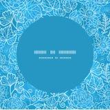 Διανυσματικό μπλε πλαίσιο σύστασης τομέων floral άνευ ραφής Στοκ εικόνες με δικαίωμα ελεύθερης χρήσης