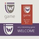 Διανυσματικό λογότυπο ελεγκτών κονσολών τυχερού παιχνιδιού Buziness Στοκ Εικόνα