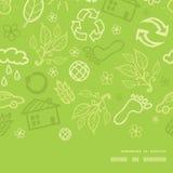 Διανυσματικό περιβαλλοντικό οριζόντιο πλαίσιο άνευ ραφής Στοκ φωτογραφία με δικαίωμα ελεύθερης χρήσης