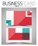 Διανυσματικό πρότυπο σχεδίου επαγγελματικών καρτών CMYK Στοκ φωτογραφίες με δικαίωμα ελεύθερης χρήσης