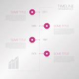 Διανυσματικό πρότυπο υπόδειξης ως προς το χρόνο Infographic με τα εικονίδια κύκλων Στοκ Φωτογραφία