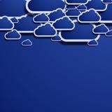 Διανυσματικό στοιχείο σχεδίου σύννεφων Στοκ Φωτογραφία