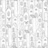 Διανυσματικό σχέδιο με τα σπίτια Στοκ Εικόνα