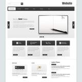 Διανυσματικό σχέδιο προτύπων διεπαφών επιχειρησιακού ιστοχώρου με τη ρεαλιστική απεικόνιση σημειωματάριων Στοκ Εικόνες