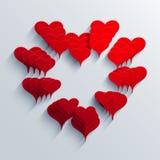 Διανυσματικό σύγχρονο υπόβαθρο καρδιών Στοκ Εικόνες