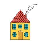 Διανυσματικό σύμβολο σπιτιών παραμυθιού Στοκ Εικόνες