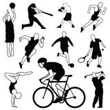 Διανυσματικό σύνολο αθλητικών εικονιδίων Στοκ εικόνες με δικαίωμα ελεύθερης χρήσης