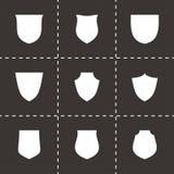 Διανυσματικό σύνολο εικονιδίων ασπίδων Στοκ Φωτογραφίες
