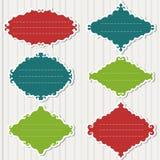 Διανυσματικό σύνολο εκλεκτής ποιότητας πλαισίων στο γκρίζο υπόβαθρο Στοκ εικόνες με δικαίωμα ελεύθερης χρήσης