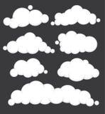 Διανυσματικό σύνολο σύννεφων Στοκ Φωτογραφίες