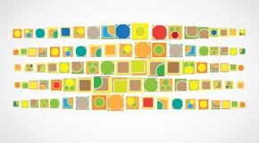 Διανυσματικό υπόβαθρο τεχνολογίας υπολογιστών χρώματος δημόσιο Διαδίκτυο μέσα Στοκ Εικόνες