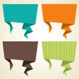 Διανυσματικό υπόβαθρο origami Έμβλημα και ομιλία Στοκ Φωτογραφία