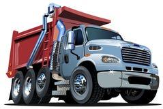 Διανυσματικό φορτηγό απορρίψεων κινούμενων σχεδίων Στοκ Φωτογραφίες