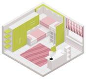 Διανυσματικό isometric εικονίδιο δωματίων παιδιών Στοκ Φωτογραφία