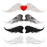 Διανύσματα φτερών Στοκ Εικόνες