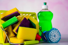 Διαποτισμένα χρώματα, έννοια πλυσίματος Στοκ εικόνες με δικαίωμα ελεύθερης χρήσης