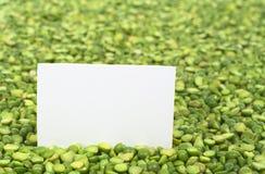 Διασπασμένο ξηρό πράσινο μπιζέλι Στοκ Εικόνες