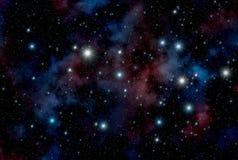 διαστημικά αστέρια ανασκόπησης Στοκ Εικόνες