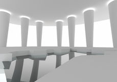 Διαστημική εσωτερική κατασκευή Στοκ εικόνα με δικαίωμα ελεύθερης χρήσης