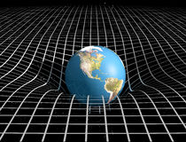 διαστημικός χρόνος βαρύτη&tau Στοκ Εικόνες