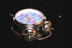 διαστημικός χρόνος Στοκ εικόνες με δικαίωμα ελεύθερης χρήσης