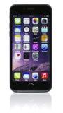 Διαστημικό γκρίζο iPhone 6 της Apple Στοκ εικόνα με δικαίωμα ελεύθερης χρήσης