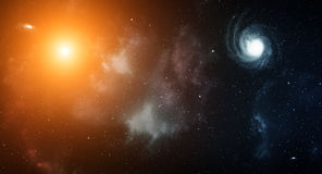 Διαστημικό υπόβαθρο Στοκ Εικόνα