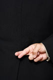 διασχισμένα δάχτυλα Στοκ Φωτογραφία