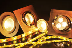 Διαφορετικό LEDs Στοκ εικόνα με δικαίωμα ελεύθερης χρήσης