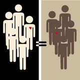 Διαφυλετικές ισότητες Στοκ Φωτογραφίες