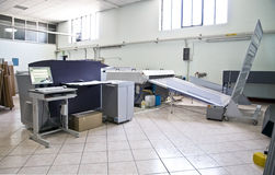 διαδικασία εκτύπωσης πιά&t Στοκ εικόνες με δικαίωμα ελεύθερης χρήσης