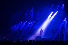 Δια τη σιβηρική ορχήστρα στη συναυλία Στοκ Φωτογραφίες