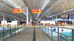 Διεθνές τερματικό 1 αερολιμένων Χονγκ Κονγκ Στοκ φωτογραφία με δικαίωμα ελεύθερης χρήσης