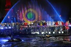 Διεθνής παρουσιάστε κύκλο του φωτός στη Μόσχα Στοκ Εικόνες
