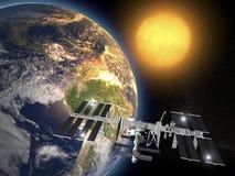 Διεθνής Διαστημικός Στα&the Στοκ Εικόνες