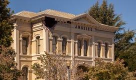 Δικαιοσύνη που χτίζει τη ζημία σεισμού Napa Καλιφόρνια Στοκ Φωτογραφίες